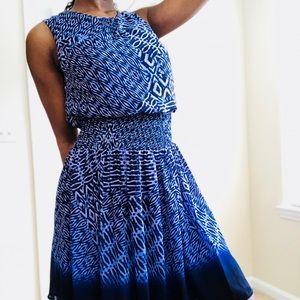 Calvin Klein blue animal print patterned dress